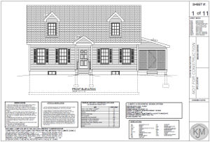 Sample plans for a cape style home