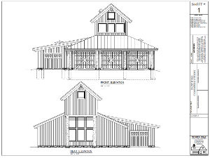 Sample plans for a garage with storage loft